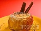 Рецепта Печени ябълки с ванилов крем и канела